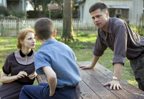 Brad Pitt and Jessica Chastain give excellent performances in The Tree Of Life
