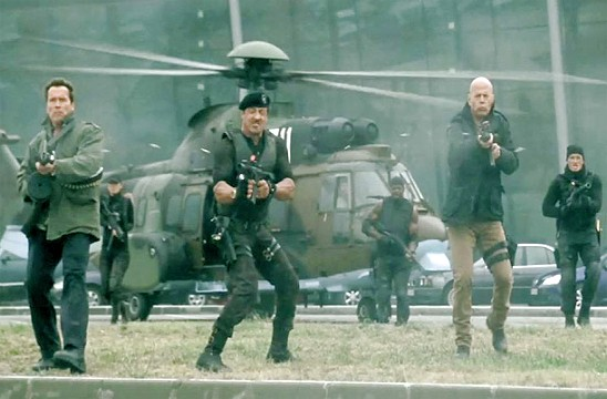 Movies To Watch Tonight review of The Expendables 2 rates the movie 2.5 stars